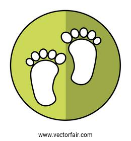 foot print baby isolated icon