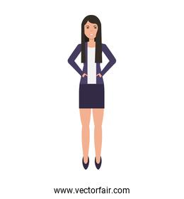 businesswoman avatar character icon