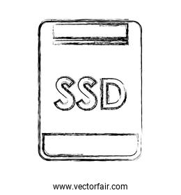 sd memory isolated icon