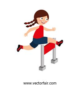 cute girl in obstacle race