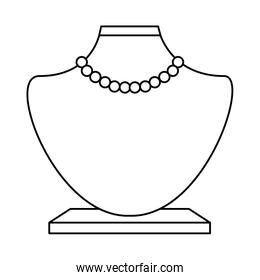 female manequin with necklace