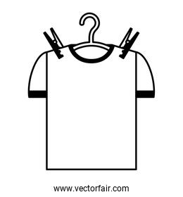 Drying hook with shirt laundry icon