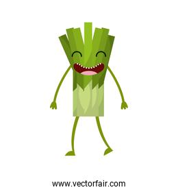 celery fresh vegetable kawaii character