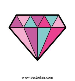 elegant diamond isolated icon