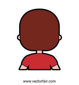 cute little boy with back character