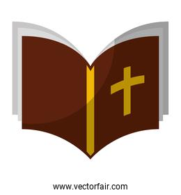 holy bible isolated icon