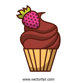 isolated cupcake icon