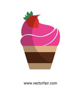 cupcake with a strawberry on the top