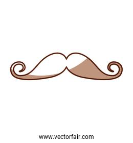 cute shadow moustache cartoon