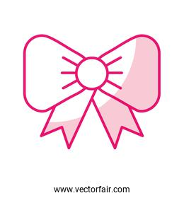 shadow fuchsia bow cartoon