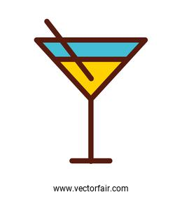 cute yellow cocktail cartoon