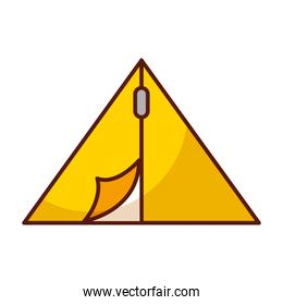 shadow camping tent cartoon