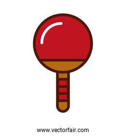 brightly Ping pong racket