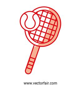 shadow tennis racket and ball cartoon
