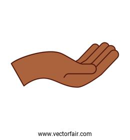 afro hand human asking icon