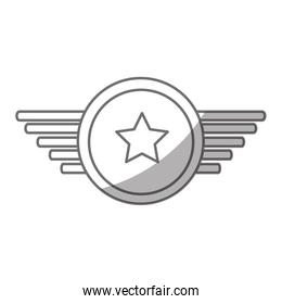 navy medal with wings