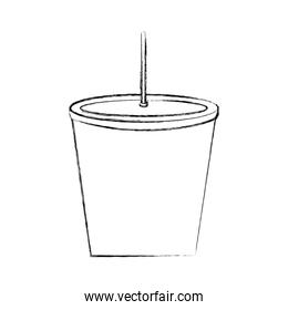 drink plastic with straw