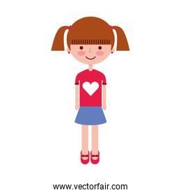 young girl avatar character