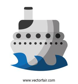 ship boat isolated icon