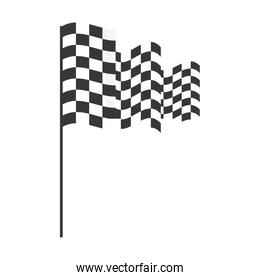 checkered flag isolated icon