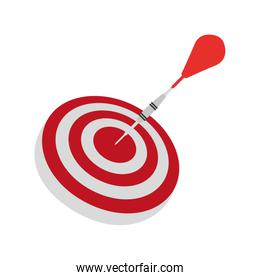 target goal with dart isolated icon