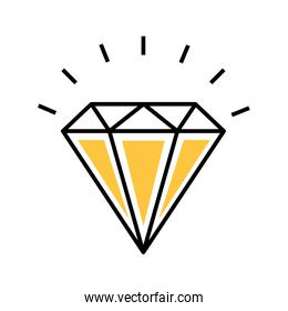 diamond rich isolated icon