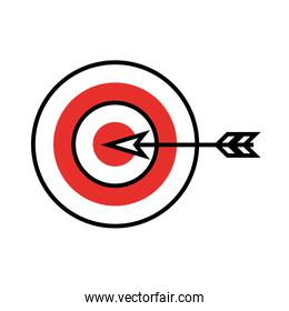 target goal with dart icon isolated