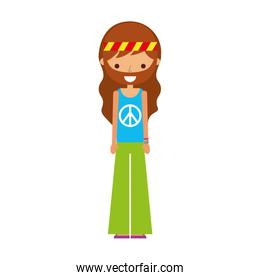 man hippie lifestyle character