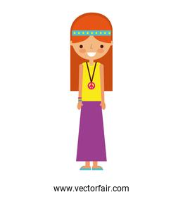 woman hippie lifestyle character