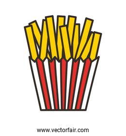 french fries isolated icon