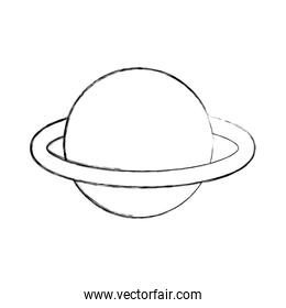 saturn planet isolated icon