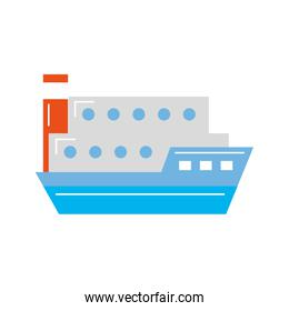 ship cargo isolated icon