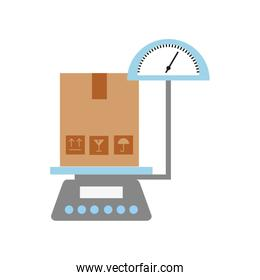 scale with box carton delivery icon