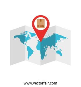 world map with pin location box
