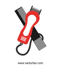 barbershop comb with hairdressing machine