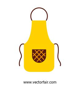 Cook apron isolated icon