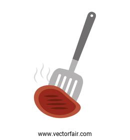 kitchen spatula tool with meat