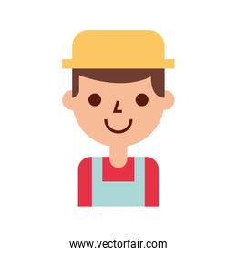 farmer character isolated icon