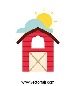farm stable building icon