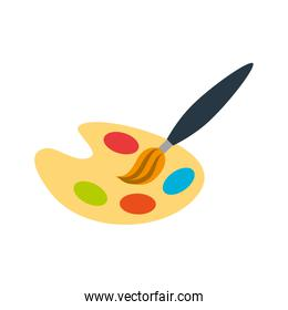 paint pallette isolated icon