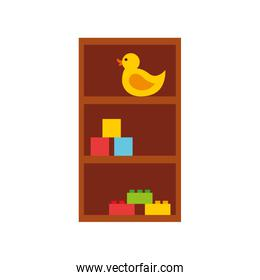wooden drawer with toys
