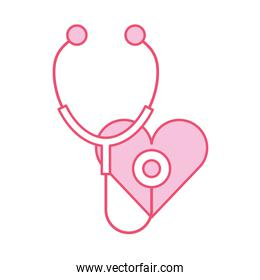 stethoscope medical with heart