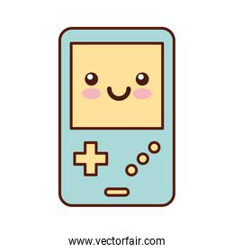 Portable video game console kawaii character