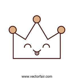 queen crown isolated kawaii character
