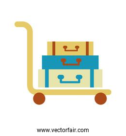 suitcase carrier isolated icon