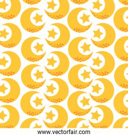 cute moon and stars pattern