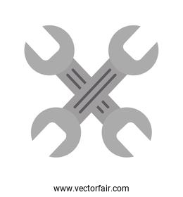 wrenchs crossed isolated icon