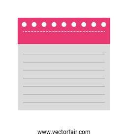 notebook sheet isolated icon