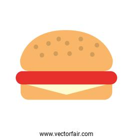 delicious burger isolated icon
