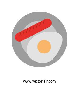 sausage with fried egg